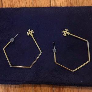 Tory Burch gold hoop earrings